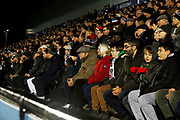 Bromley fans during the The FA Cup match between Bromley and Bristol Rovers at the Westminster Waste Stadium, Bromley, United Kingdom on 19 November 2019.