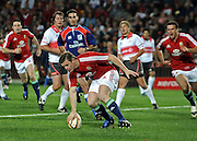 Captain of the British&Irish Lions, Brian O'Driscoll dots down for his try against the Xerox Lions.<br /> Rugby - 090602 - British&Irish Lions v Xerox Lions - Coca-Cola Park - Johannesburg - South Africa. The British Lions won 74-10 scoring 10 tries.<br /> Photographer : Anton de Villiers / SASPA
