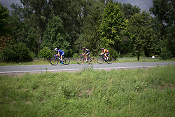 One of the many attackes on Stage 3 of the Lotto Thuringen Ladies Tour - a 124 km road race, starting and finishing in Weimar on July 15, 2017, in Thuringen, Germany. (Photo by Balint Hamvas/Velofocus.com)