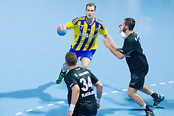 Povilas Babarskas #7 of RK Celje Pivovarna Lasko during handball match between RK Celje Pivovarna Lasko vs RK Gorenje Velenje of Super Cup 2015, on August 29, 2015 in SRC Marina, Portoroz / Portorose, Slovenia. Photo by Urban Urbanc / Sportida