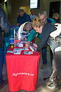 KELOWNA, CANADA - MARCH 17:  Flight Centre at the Kelowna Rockets game on March 17, 2018 at Prospera Place in Kelowna, British Columbia, Canada.  (Photo By Cindy Rogers/Nyasa Photography,  *** Local Caption ***