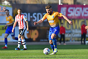 Alex MacDonald (7) of Mansfield Town on the attack during the EFL Sky Bet League 2 match between Exeter City and Mansfield Town at St James' Park, Exeter, England on 30 March 2019.