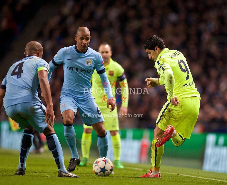 041049fab European Football - UEFA Champions League - Round of 16 1st Leg -  Manchester City FC v FC Barcelona
