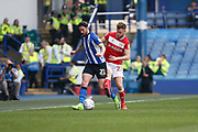Tomas Kalas of Bristol City challenges George Boyd of Sheffield Wednesday during the EFL Sky Bet Championship match between Sheffield Wednesday and Bristol City at Hillsborough, Sheffield, England on 22 April 2019.
