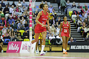 England Women C Serena Guthrie during the Netball World Cup 2019 Preparation match between England Women and Uganda at Copper Box Arena, Queen Elizabeth Olympic Park, United Kingdom on 30 November 2018.