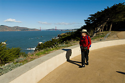 California: San Francisco. Land's End view of the Golden Gate. Photo copyright Lee Foster. Photo #: 25-casanf75833