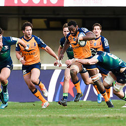 Fulgence OUEDRAOGO of Montpellier  during the Heineken Champions Cup, Pool five match between Montpellier and Connacht at Altrad Stadium on January 19, 2020 in Montpellier, France. (Photo by Alexandre Dimou/Icon Sport) - Altrad Stadium - Montpellier (France)