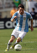 JUNE 09 2012:   Lionel Messi (10) of Argentinal during an international friendly match against Brazil at Metlife Stadium in East Rutherford,New Jersey. Argentina won 4-3.