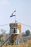 The Israeli Jordanian Border Photographed at Naharaim on the Jordan River Guard tower