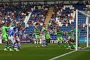 Forest Green Rovers Mark Roberts(21) just fails to get on the end of a cross during the EFL Sky Bet League 2 match between Colchester United and Forest Green Rovers at the Weston Homes Community Stadium, Colchester, England on 26 August 2017. Photo by Shane Healey.