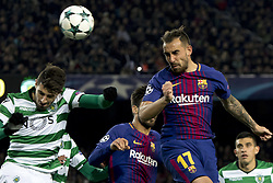 December 5, 2017 - Barcelona, Catalonia, Spain - Paco Alcacer of Barcelona during the UEFA Champions League match between FC Barcelona and Sporting CP Lisboa at the Camp Nou Stadium in Barcelona, Catalonia, Spain on December 5,2017  (Credit Image: © Miquel Llop/NurPhoto via ZUMA Press)