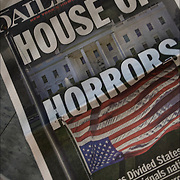 Daily News headline after Election Day, &quot;House of Horrors&quot;, Donald Trump has been elected president of the United States. <br /> <br /> Surprised outcome, had shown a fairly competitive race with critical weaknesses for Clinton in the Electoral College. Clinton will eventually win the popular vote as more votes come in from California.