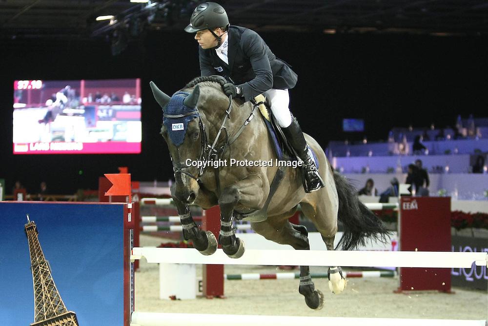 Equitation : Gucci Masters - 03.12.2010 - Prix Le Figaro CSI5 - Lars Nieberg (GER/sur Lord Luis) *** Local Caption *** 00042820