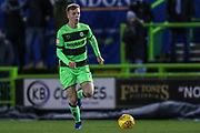 Forest Green Rovers Nathan McGinley(19) runs forward during the EFL Sky Bet League 2 match between Forest Green Rovers and Grimsby Town FC at the New Lawn, Forest Green, United Kingdom on 22 January 2019.