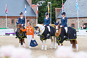 Tineke Bartels, Zoe Kuintjes, Daphne van Peperstraten, Jitske Prosman<br /> FEI European Championships Ponies 2016<br /> © DigiShots