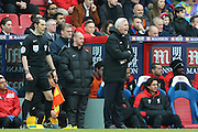 Crystal Palace Manager Alan Pardew  during the Barclays Premier League match between Crystal Palace and Liverpool at Selhurst Park, London, England on 6 March 2016. Photo by Simon Davies.