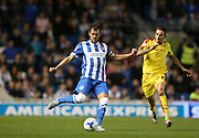 Brighton captain and central defender, Gordon Greer clears the danger during the Sky Bet Championship match between Brighton and Hove Albion and Rotherham United at the American Express Community Stadium, Brighton and Hove, England on 15 September 2015.