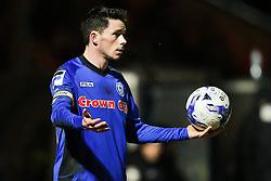 Rochdale's Ian Henderson takes a throw in - Photo mandatory by-line: Matt McNulty/JMP - Mobile: 07966 386802 - 03/03/2015 - SPORT - football - Rochdale - Spotland Stadium - Rochdale v Crewe Alexandra - Sky Bet League One