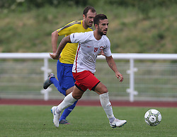 May 31, 2018 - London, United Kingdom - Ozhan Kenan of Northern Cyprus.during Conifa Paddy Power World Football Cup 2018  Group B match between Northern Cyprus against Karpatalya at Queen Elizabeth II Stadium (Enfield Town FC), London, on 31 May 2018  (Credit Image: © Kieran Galvin/NurPhoto via ZUMA Press)