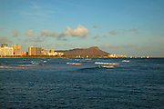 Waikiki from Kewalo Basin, Oahu, Hawaii