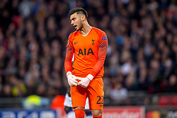 November 6, 2018 - London, Greater London, England - Paulo Gazzaniga of Tottenham Hotspur looks dejected after the PSV goal during the UEFA Champions League Group Stage match between Tottenham Hotspur and PSV Eindhoven at Wembley Stadium, London, England on 6 November 2018. Photo by Salvio Calabrese. (Credit Image: © AFP7 via ZUMA Wire)