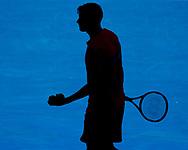 GRIGOR DIMITROV (BUL), Silhouette,Schatten,von oben<br /> <br /> Tennis - Australian Open 2018 - Grand Slam / ATP / WTA -  Melbourne  Park - Melbourne - Victoria - Australia  - 19 January 2018.