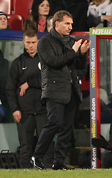 Liverpool Manager, Brendan Rodgers applauds his team - Photo mandatory by-line: Robbie Stephenson/JMP - Mobile: 07966 386802 - 14/02/2015 - SPORT - Football - London - Selhurst Park - Crystal Palace v Liverpool - FA Cup - Fifth Round