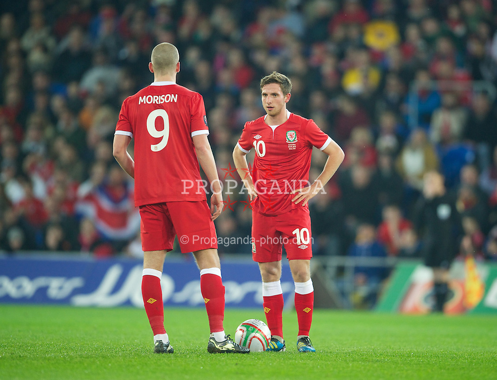 CARDIFF, WALES - Wednesday, February 29, 2012: Wales' Joe Allen looks dejected as Costa Rica score the only goal of the game during the international friendly match at the Cardiff City Stadium. (Pic by David Rawcliffe/Propaganda)