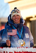 Nordic Combined Gold and Silver Medalist Bill Demong is honored at a celebratory parade in Saranac Lake N.Y. after returning from the games. (Photo/Todd Bissonette - http://www.rtbphoto.com
