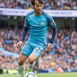 Manchester City midfielder David Silva (21) on the ball in the English Premier League match between Manchester City and Crystal Palace<br /> (c) John Baguley | SportPix.org.uk