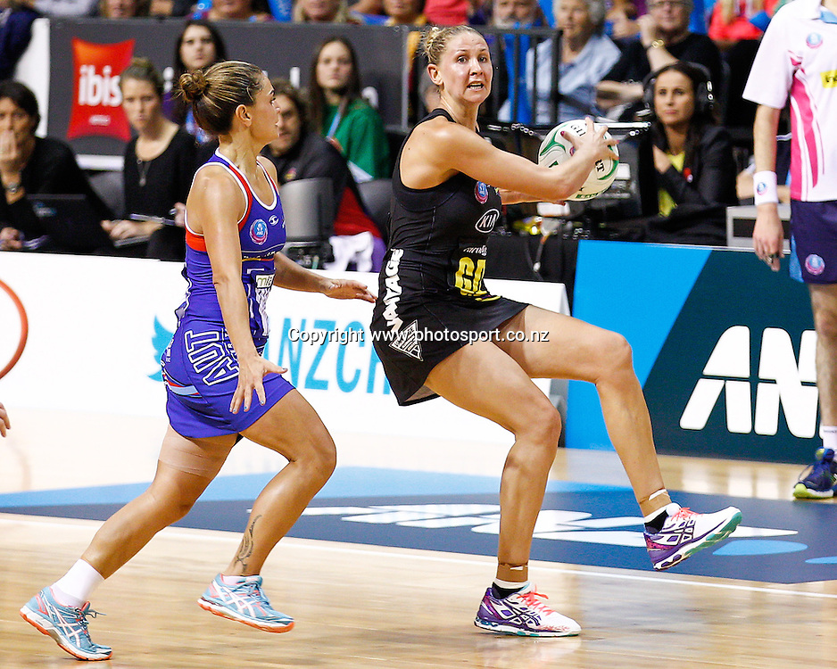 Waikato BOP Magic captain Casey Kopua in action during the ANZ Championship netball match - Waikato BOP Magic v Northern Mystics at Claudelands Arena, Hamilton, New Zealand on Saturday 20 April 2014.  Photo:  Bruce Lim / www.photosport.co.nz