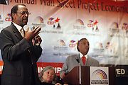 """l to r: Ron Daniels and Rev. Al Sharpton at the opening reception of The 12th Annual RainbowPUSH Wall Street Project Economic Summit """" Fallout From The Bailout: A New Day in Washington """""""