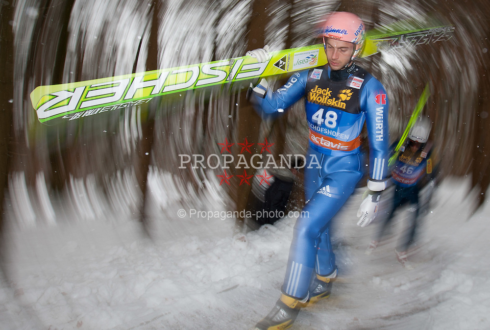 05.01.2012, Paul Ausserleitner Schanze, Bischofshofen, AUT, 60. Vierschanzentournee, FIS Ski Sprung Weltcup, Training, im Bild Neumayer Michael (GER) // Neumayer Michael of Germany during a practice session of 60th Four-Hills-Tournament FIS World Cup Ski Jumping at Paul Ausserleitner Schanze, Bischofshofen, Austria on 2012/01/05. EXPA Pictures © 2012, PhotoCredit: EXPA/ Johann Groder