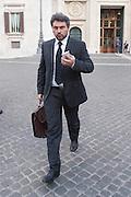 2013/03/19 Roma, parlamentari in Piazza Montecitorio. Nella foto Massimo Artini.<br /> Rome, parliamentarians in Montecitorio Square. In the picture Massimo Artini - &copy; PIERPAOLO SCAVUZZO