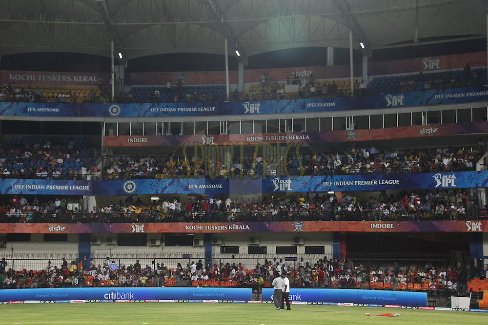 View of the stadium during match 57 of the Indian Premier League ( IPL ) Season 4 between the Kochi Tuskers Kerala and the Kings XI Punjab held at the Holkar Stadium in Indore, Madhya Pradesh, India on the 13th May  2011..Photo by Saikat Das/BCCI/SPORTZPICS.