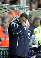Photo: Olly Greenwood.<br />Colchester United v West Bromwich Albion. Coca Cola Championship. 20/10/2007. West Brom manager Tony Mowbray looks dejected at the end as his side lose 3-2