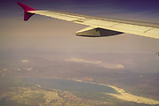 Flying over Romania before landing in Bucharest