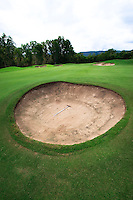 Picturesque bunkers at the Sea Temple golf course in Port Douglas, far north Queensland, Australia.