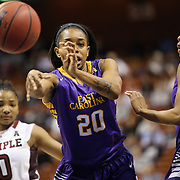 Tatiana Chapple, East Carolina, in action during the Temple Vs East Carolina Quarterfinal Basketball game during the American Women's College Basketball Championships 2015 at Mohegan Sun Arena, Uncasville, Connecticut, USA. 7th March 2015. Photo Tim Clayton