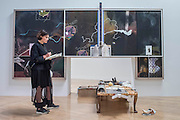 Sic Glyphs 2016 by Michael Dean - Turner Prize exhibition, Tate Britain - the four shortlisted artists in 2016 are: Michael Dean, Anthea Hamilton, Helen Marten and Josephine Pryde. It is at Tate Britain from 27 September 2016 to 2 January 2017.