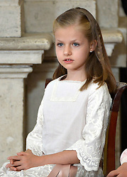 18.06.2014, Royal Palace, Madrid, ESP, Abdankung König Juan Carlos, Unterzeihnung der Abdankungspapiere, im Bild Princess Leonor of Spain // during the official abdication ceremony at the Royal Palace in Madrid, Spain on 2014/06/18. EXPA Pictures © 2014, PhotoCredit: EXPA/ Alterphotos/ Pool<br /> <br /> *****ATTENTION - OUT of ESP, SUI*****