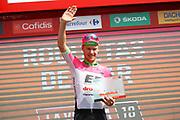 Podium, Simon Clarke (AUS - EF Education First - Drapac) winner, during the UCI World Tour, Tour of Spain (Vuelta) 2018, Stage 5, Granada - Roquetas de Mar 188,7 km in Spain, on August 29th, 2018 - Photo Luca Bettini / BettiniPhoto / ProSportsImages / DPPI