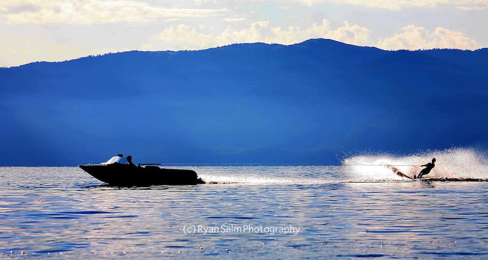 Glassy Water ski Morning<br /> Lake Tahoe