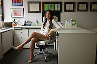 Nutritionist Tanya Zuckerbrot in her New York office.<br /> <br /> Photo &copy; Robert Caplin