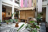 A traditional Taiwan Aboriginal house as seen in the Aboriginal Museum in Yilan, Taiwan.