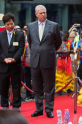 Chinatown, London, July 25thy 2016. His Royal Highness Prince Andrew The Duke of York is the Guest of Honour as a new Chinese gate on Wardour Street is inaugurated.
