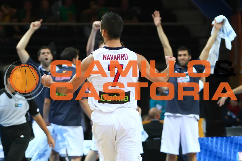 DESCRIZIONE : Kaunas Lithuania Lituania Eurobasket Men 2011 Semifinali Semi Final Round Spagna Macedonia Spain F.Y.R. of Macedonia<br /> GIOCATORE : Juan Carlos Navarro<br /> SQUADRA : Spagna Spain<br /> EVENTO : Eurobasket Men 2011<br /> GARA : Spagna Macedonia Spain F.Y.R. of Macedonia<br /> DATA : 16/09/2011 <br /> CATEGORIA : esultanza jubilation <br /> SPORT : Pallacanestro <br /> AUTORE : Agenzia Ciamillo-Castoria/Y.Matthaios<br /> Galleria : Eurobasket Men 2011 <br /> Fotonotizia : Kaunas Lithuania Lituania Eurobasket Men 2011 Semifinali Semi Final Round Spagna Macedonia Spain F.Y.R. of Macedonia<br /> Predefinita :