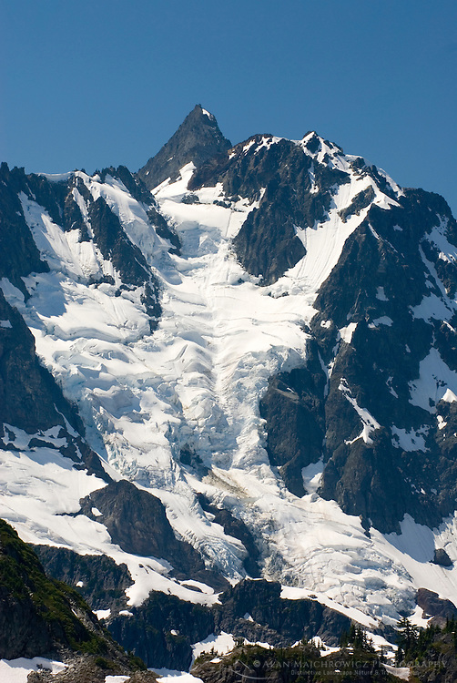 NE face of Mount Shuksan (9131 feet, 2783 meters) with view of the Price Glacier, North Cascades Washington