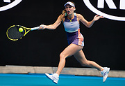 Caroline Wozniacki of Denmark in action during her first round match at the 2020 Australian Open, WTA Grand Slam tennis tournament on January 20, 2020 at Melbourne Park in Melbourne, Australia - Photo Rob Prange / Spain ProSportsImages / DPPI / ProSportsImages / DPPI
