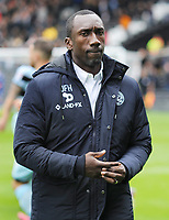 Football - 2016 /2017 Championship - Fulham vs Queens Park Rangers<br /> <br /> QPR Manager Jimmy Floyd Hasselbaink arrives at Craven Cottage<br /> <br /> Credit : Colorsport / Andrew Cowie